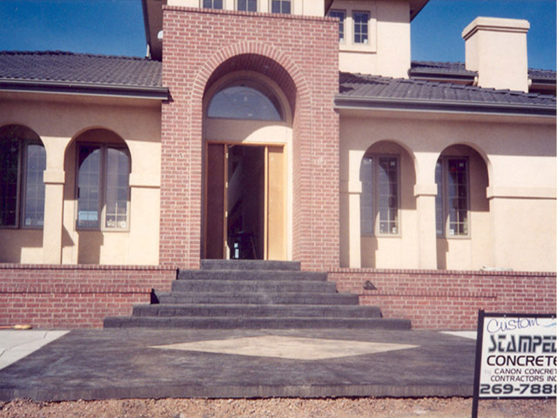 Brick Stamped Front Steps