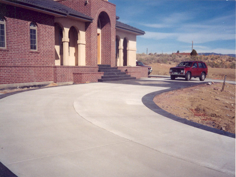 Driveway With Diamond Pattern