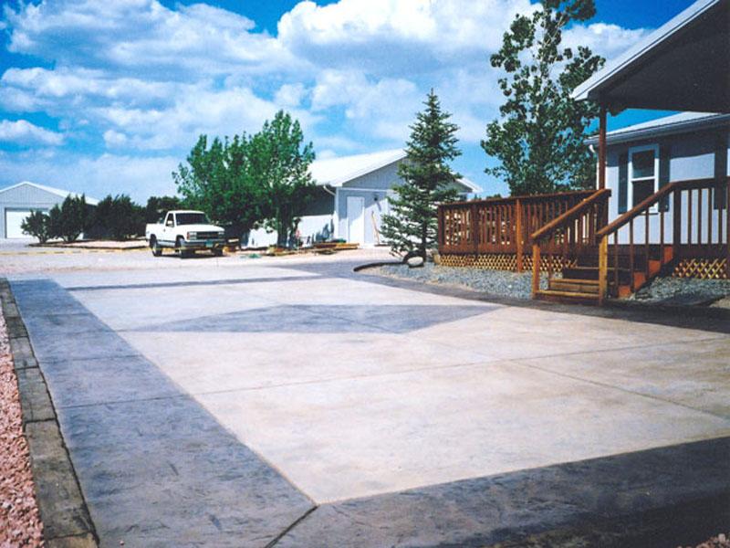Diamond Stamped Driveway