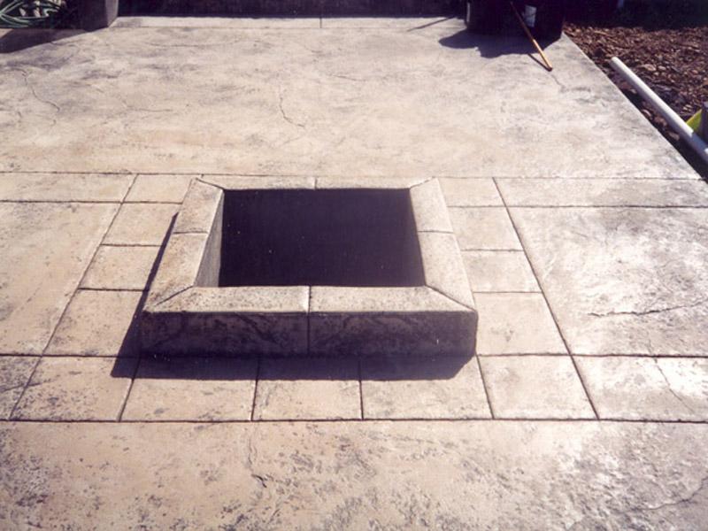 Raised Stamp Patio